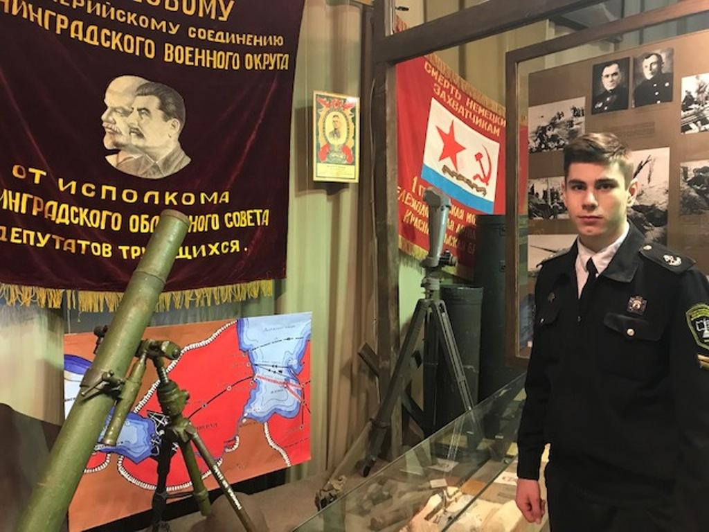 Участие курсантов колледжа ГУМРФ в презентации книги «Ленинград, война, блокада, дорога жизни»