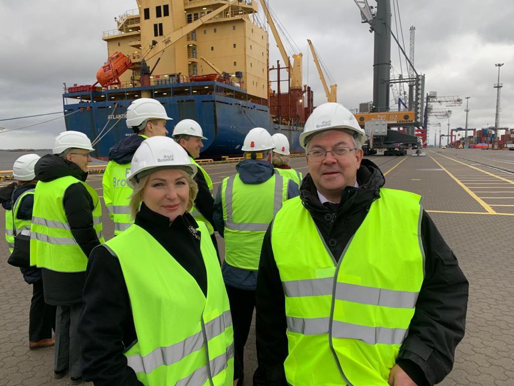 Визит в порт «Бронка» – новые грани сотрудничества с Королевством Бельгия